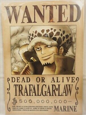 One Piece Wanted Poster Trafalgar Law Latest News Official Mugiwara Store Ebay