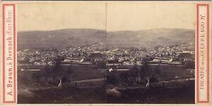 A. Braun Ville A Identify Il Francia Germania Guerre 1870-1 Foto Stereo Albumina