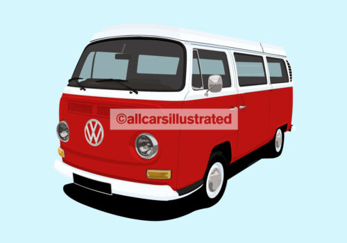 VW CAMPER VAN METAL KEY RING CHOOSE YOUR COLOUR.