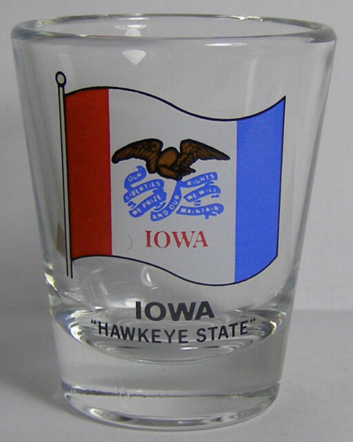 Iowa The Hawkeye State Shot Glass #3542