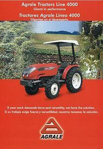 Agrale Tractors Tractores 4000 Trecker Traktor Prospekt Landmaschinen Gb E 2001 Exzellente QualitäT