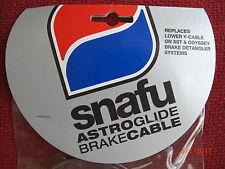 SNAFU Astroglide BMX Lower Gyro Detangler Cables, Silver