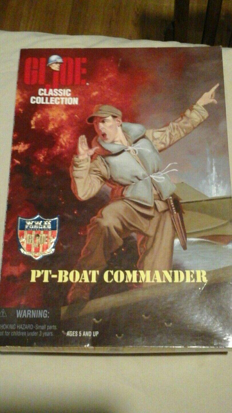 Gi joe classic collection pt boat comnander ww2 forces limited edition NIB