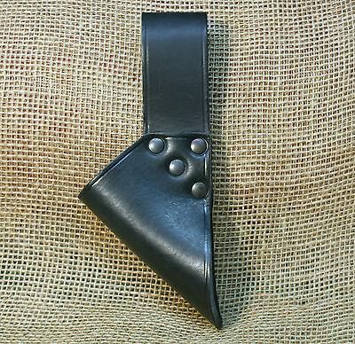 Schwerthalter Halter Schwert   Leder schwarz Gürtelhalter Blankschwert Kernleder