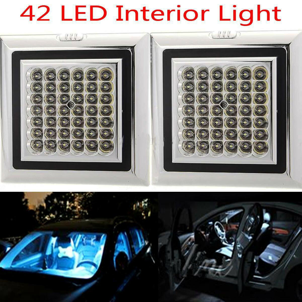 12v Volt 42 Led Car Truck Vehicle Auto Dome Roof Ceiling Interior Light Lamp New Ebay
