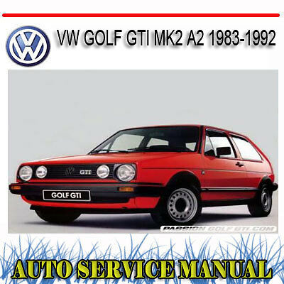 VOLKSWAGEN VW GOLF GTI MK2 A2 1983-1992 REPAIR SERVICE MANUAL ~ DVD