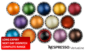new 30 50 80 100 lowest price original nespresso vertuo coffee pods capsules ebay. Black Bedroom Furniture Sets. Home Design Ideas