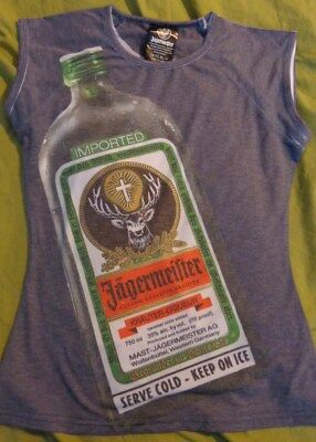 "/""Herbs./"" /& Jager Bottle on the front...Men/'s XL Jagermeister T Shirt..Black"
