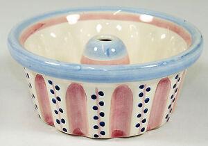 hedwig bollhagen hb schale puddingform kuchenform keramik rosa blau ebay. Black Bedroom Furniture Sets. Home Design Ideas