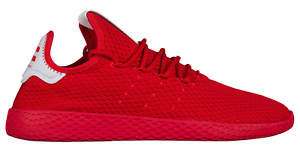 Adidas White Pharrell Williams Tennis HU Scarlet Red White Adidas BY8720 Uomo 5dcf6a