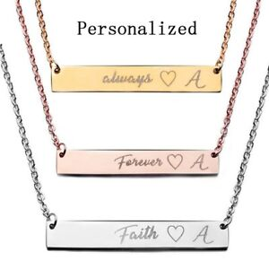 Stainless-Steel-Personalized-Name-Bar-Necklace-Custom-Engraved-Jewelry-Gifts-US