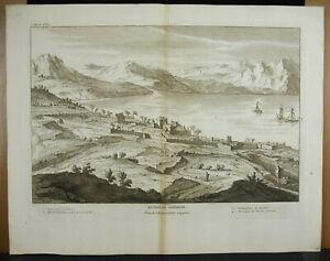 Engraving-18th-1728-Judaica-Israel-Ruins-Of-Tiberias-Depending-M-Lebrun-Jordan
