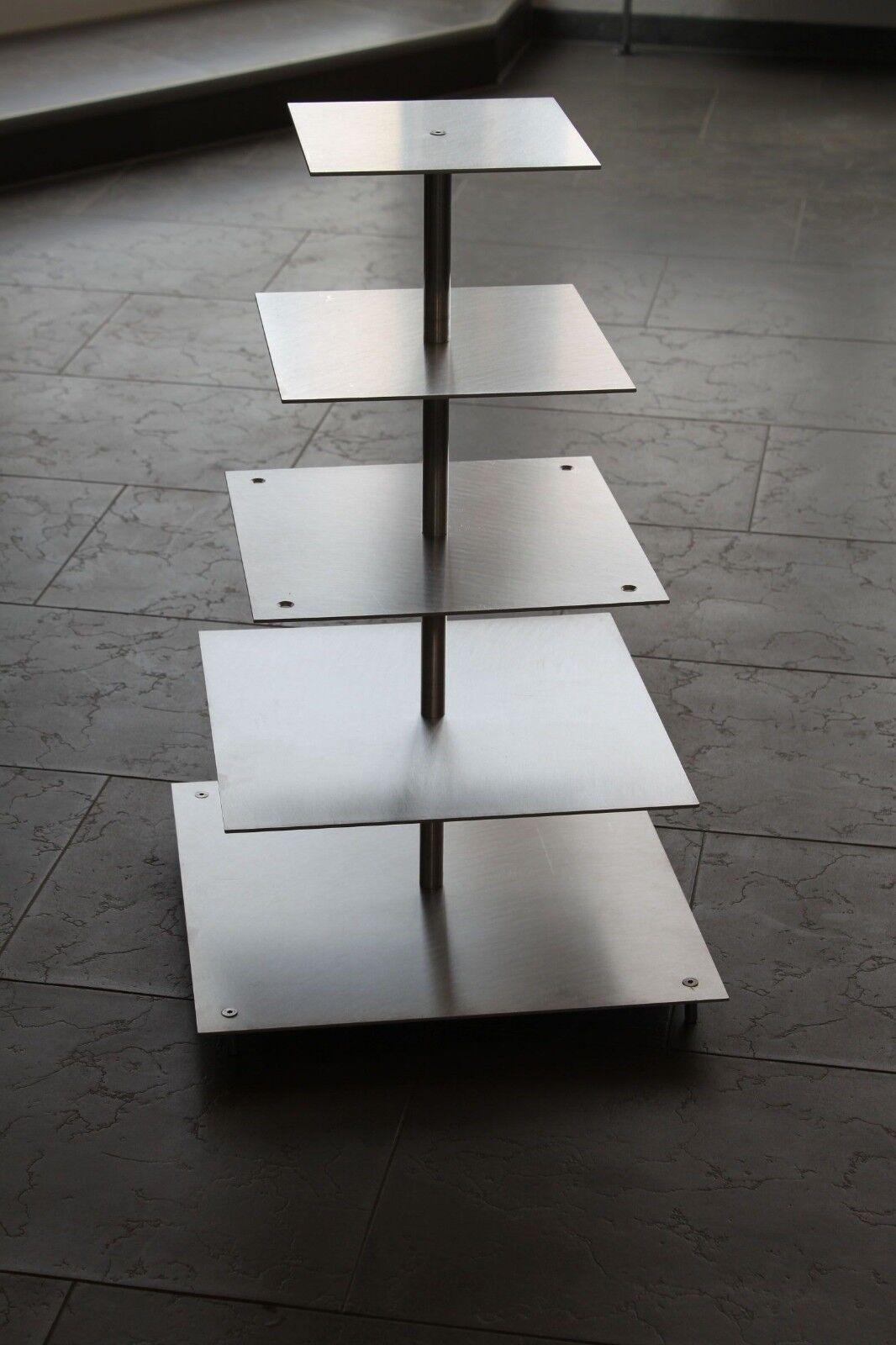 À secteurs support aluminium mariage fête 5 étages mariage gateau support alu rectangulaire