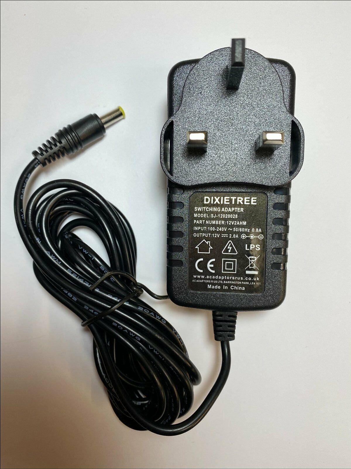12V Mains AC-DC Adaptor Power Supply Lead for Makita DMR109 DAB Job Site Radio