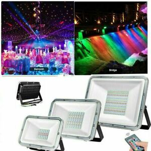 RGB-LED-Flood-Light-100W-50W-30W-Spot-Lamp-Security-Outdoor-Garden-Yard-AC-110V