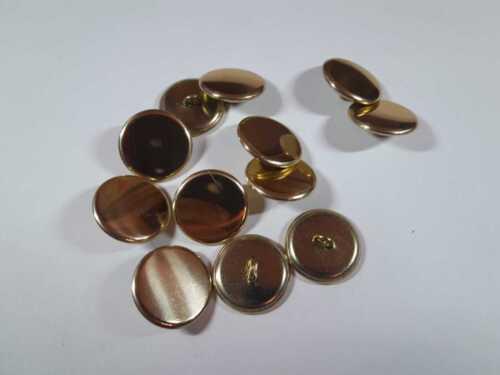 12 Bottoni Bottone in metallo Dorato a specchio Diametro cm.2,3 Vintage