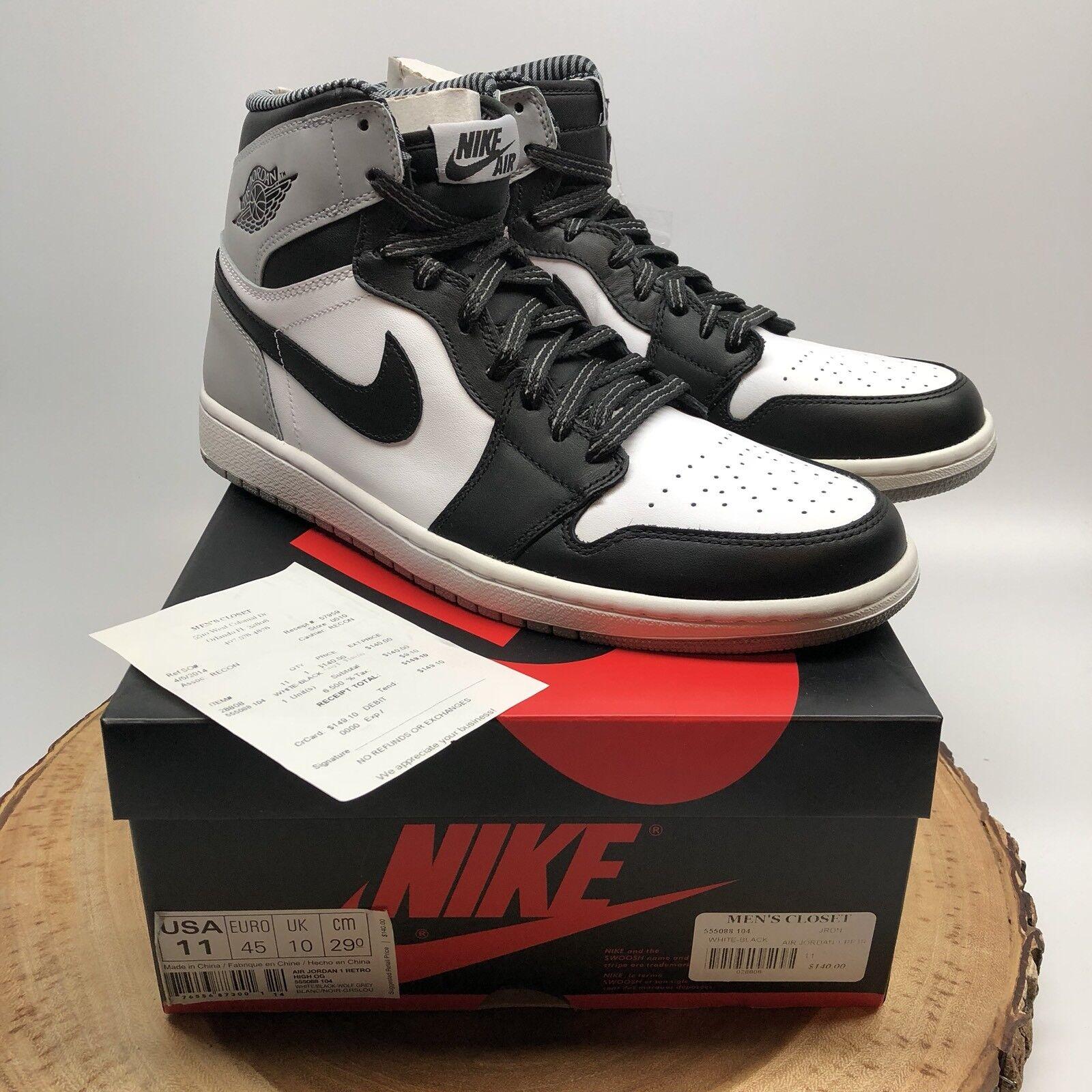 huge selection of 54441 942a5 Nike Air Jordan Retro me High og og High Barons Negro Wolf Gris 555088 104  comodo precio de temporada corta, beneficios de descuentos 0e5b41