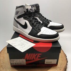 8e0b0c56e7f834 Nike Air Jordan Retro I High OG Barons Black Wolf Grey 555088 104 ...