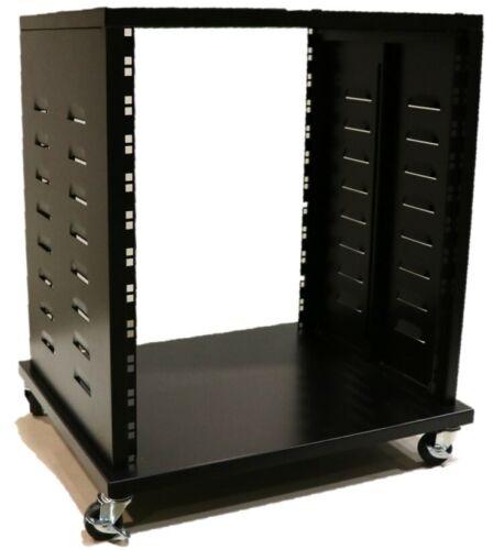 Professional Grade 12U A//V Equipment Rack with Caster Wheels
