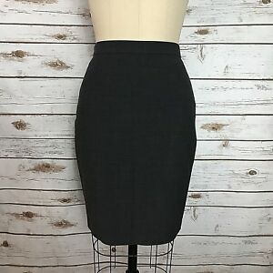 6571d81b95a758 Ann Taylor Gray Wool Blend Ruffle Back Career Pencil Skirt Women's ...