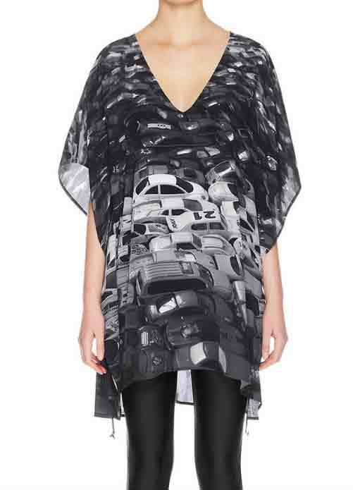Designer BNWT House Of Cannon Size Size Size XS  S Short Drawstring Kaftan Women's Dress d25e40