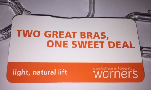 Black NWT $60 Retail Two WARNERS 4003 Wire Free Light Natural Lift Bras Pink