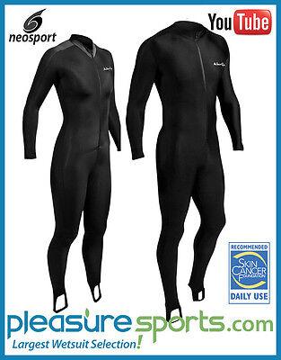 NeoSport Skin Men Women Diving Suit Bodysuit Skinsuit 50+ UV Protection Black