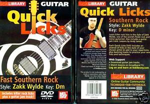 Details about Lick Library Fast Southern Rock Zakk Wylde Style DVD
