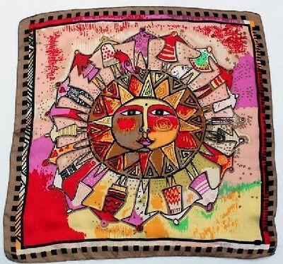 "20"" 100% Silk Scarf Square Women Bandana Neck Shawl Wrap red brown XF33055-z"