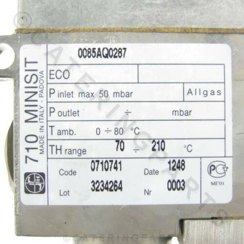 710 MINISIT 0.710.741 THERMOSTAT 210C GAS VALVE FRYER THERMOSTATIC CONTROL 210°