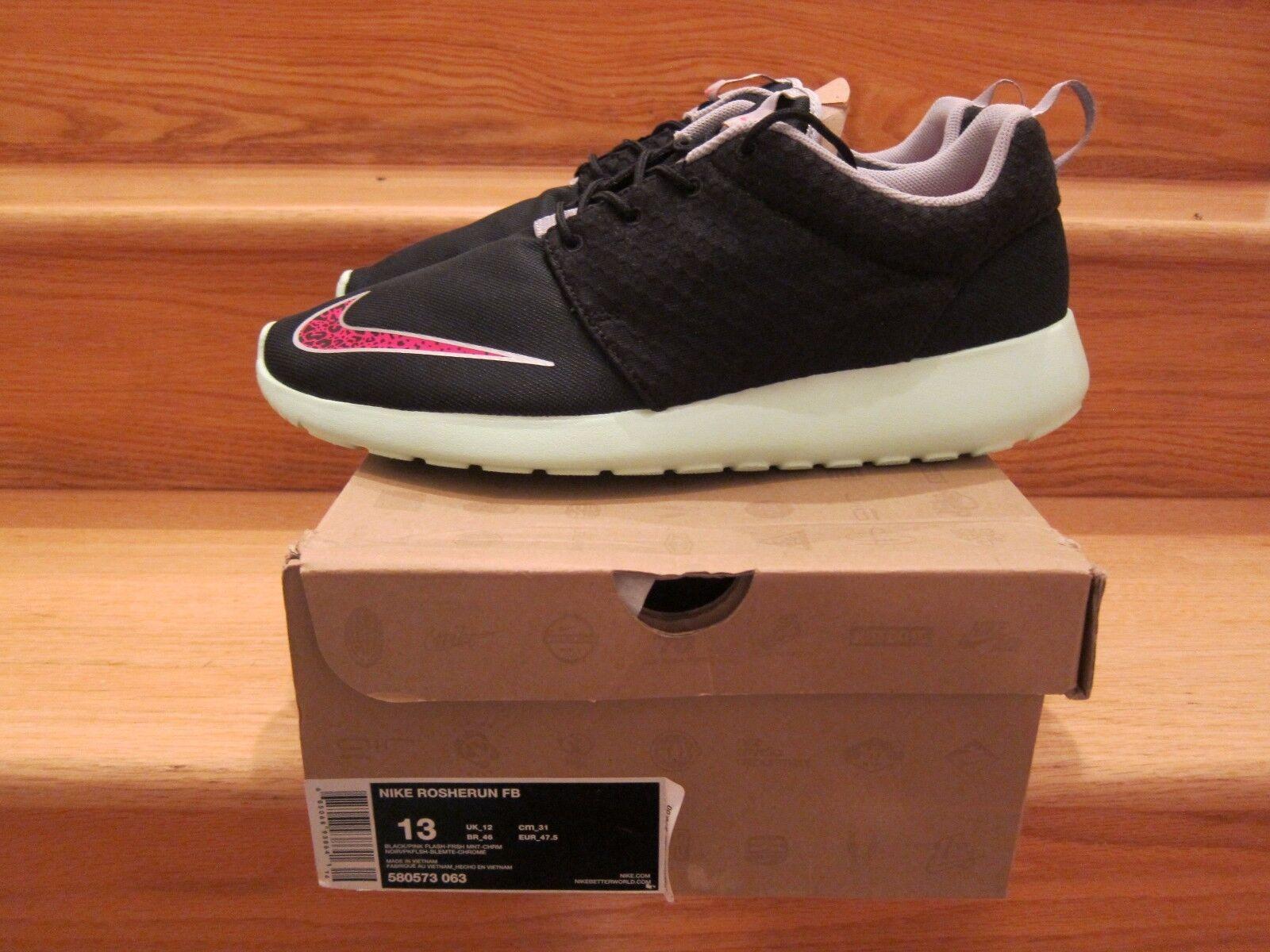 info for d402a ba6bc Nike Air rosherun FB FB FB Negro Rosa Flash tamaño 13 nuevos zapatos para  hombres y