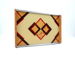 RARE AVANTGARDE allemand Suprematist Bauhaus géométrique cubiste PLATEAU ART DECO 1930