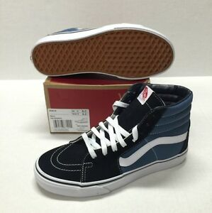 984fa2ff2ad Image is loading VANS-SK8-HI-NAVY-CLASSIC-HIGH-TOP-VN-