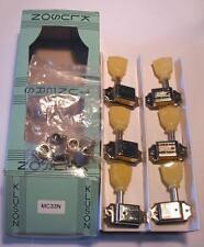 NEW Kluson MC33N Guitar Tuners Machineheads 3+3 Tulip Nickel double line