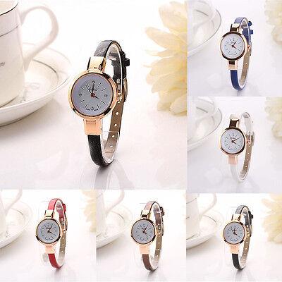 Women Quartz Analog Leather Bracelet Stainless Steel Wristwatch Lady Watch Gift