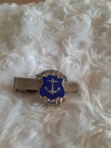 State of Rhode Island Hope Motto Vintage Tie Bar C