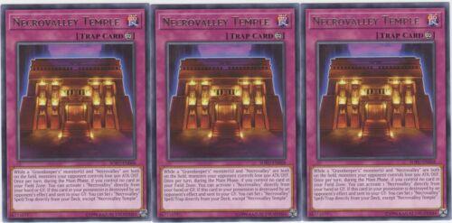 3x Necrovalley Temple Rare SOFU-EN068 Unlimited Edition Near Mint, Yugioh