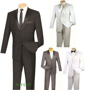 Adaptable Men's Slim Fit Smoking Bal Mariage Marié Costume à Boutonnage Simple 2 Boutons T-sc900-afficher Le Titre D'origine Bonne RéPutation Sur Le Monde