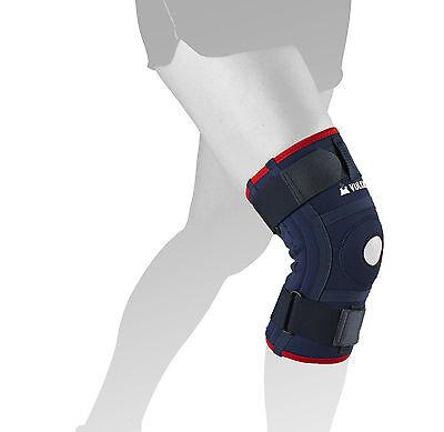 Stabilisierte Kniebandage, Kniemanschette aus Neopren mit integrierten Stützen