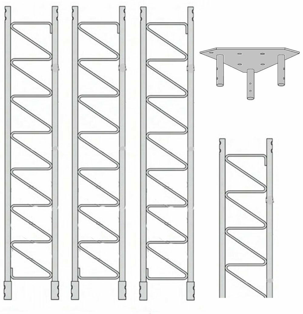 ROHN 55SS030    55G Series 30' Self Supporting Tower Kit . Buy it now for 1790.00
