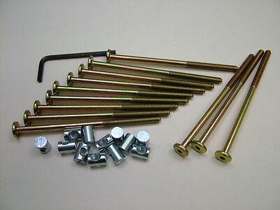 Bett//Gitterbett Bolzen 4 Sets von M6 X 120mm Bolzen,Allen Key /& 14mm