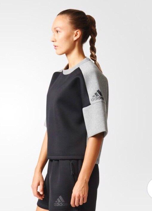 Adidas Women's ZNE SS Crew REC Training Short Sleeve Shirt B45503 SZ L  NEW