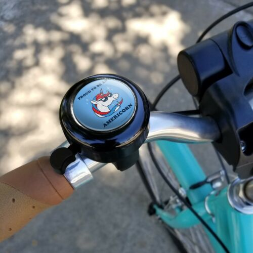 Fier d/'être Americorn American Licorne Guidon De Vélo Bell