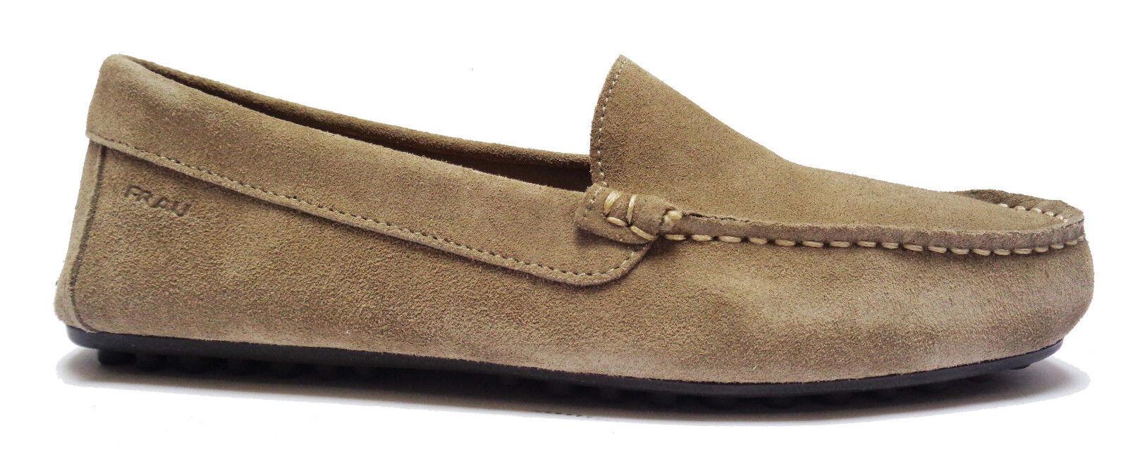 FRAU 31A0 Zapatos DA hombre MOCASSINI IN CON CAMOSCIO COL. SUGHERO FONDO CON IN GOMMINI b839a5