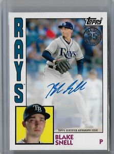 Blake Snell Tampa Bay Rays 2019 Topps series 1 1984 Autograph 84A-BS