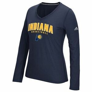 Image is loading Indiana-Pacers-Womens-Adidas-Double-Arch-Tee-NWT-