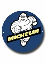 """MICHELIN MAN 11"""" INCHES ROUND METAL SIGN.CLASSIC BRITISH TYRES.GARAGE WALL SIGN."""