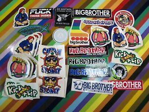 vtg-1990s-Big-Brother-skateboards-Magazine-sticker-Mullen-Hustler-and-others