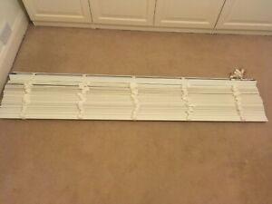 Details About Soft White Wooden Blinds 1745cm Wide X 231cm Drop Brand New