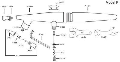 R/éservoir /à siphon Verre 14,5 pour a/érographe Paasche V cc